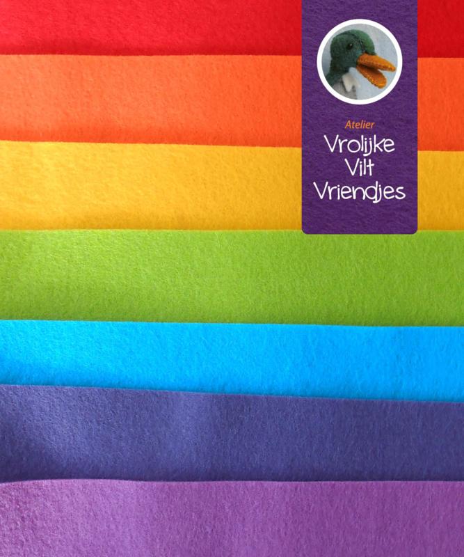 Regenboog wolviltpakket 15 bij 20 cm