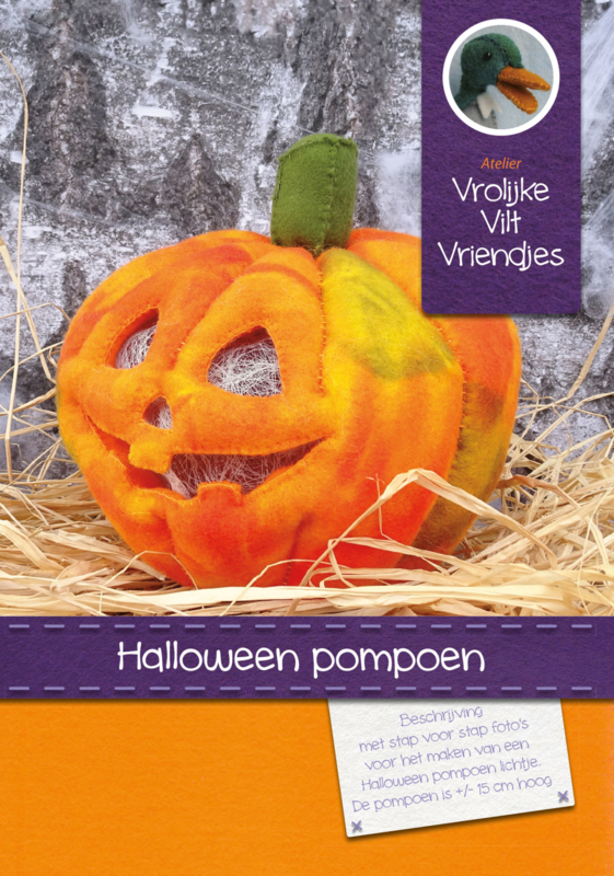 Halloween pompoen met witte verlichting