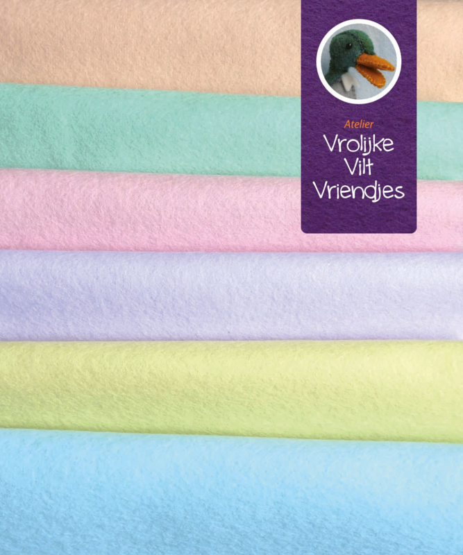 Wolvilt pakket pastel 15 bij 20 cm