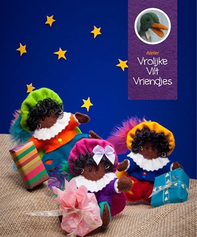 Zwarte Pieten uit het boekje vrolijke vilten vriendjes