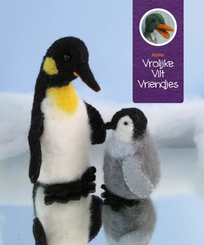 Pinguin en jong