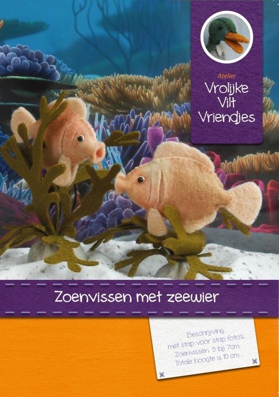 Zoenvissen met zeewierplanten