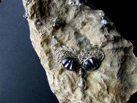 043 Ijsblauw en zilver . Verkocht