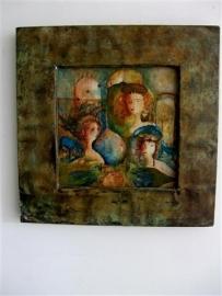 Vaas met drie vrouwen