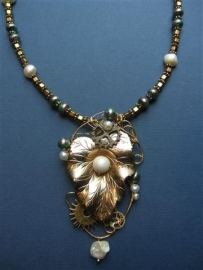 195  Exclusive necklace in  steampunk style.