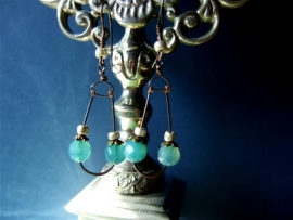 284 Agate and hand antiqued copper wire E 20,-