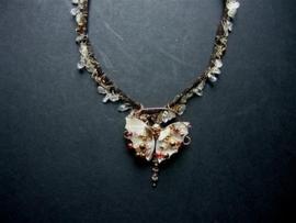 201 Parelmoer vlinder met Bergkristal