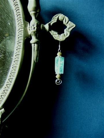 262 Oorsieraad met Roman Glass, Sterling Zilver