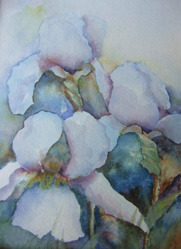 Bloemen-aquarel