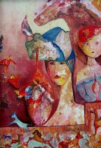 Twee vrouwen met vogelei