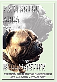 "PROTECTED BY BULLMASTIFF STRAIGHT. "" DAX""II"