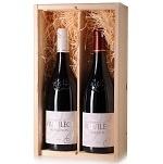 Wijngeschenk Cuvée Privilége  - in 2 vaks  bedrukte kist