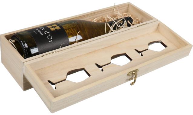 Geschenkkist Wijn met wijnglas - 1 fles