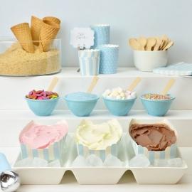 Baking tray poeder blauw