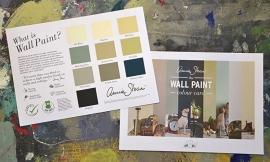 Handgeschilderde kleurenkaart Annie Sloan Wall Paint