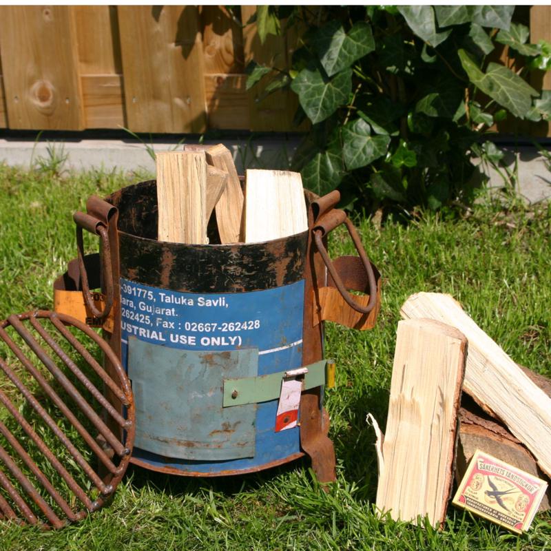 Vuurkorf - oud metaal (Fairtrade)