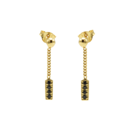 CHAIN STUDS ZIRCONIA BLACK BARRE