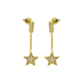 CHAIN STUDS ZIRCONIA STAR