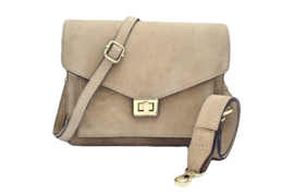 BEAU BAG BEIGE GOLD/SILVER