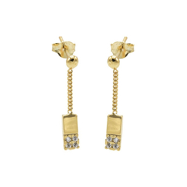 CHAIN STUDS ZIRCONIA RECTANGLE