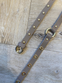 DOUBLE STUD BELT TAUPE
