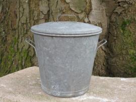 Oude Franse zinken afvalemmer vuilnisemmer