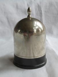 Art Deco zilverkleurige metalen sigarettenhouder