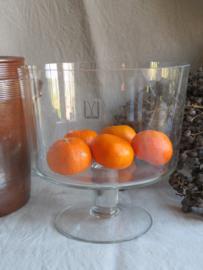 Mondgeblazen glazen trifle schaal