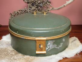 Grote oude blikken taarttrommel uit ca. 1930