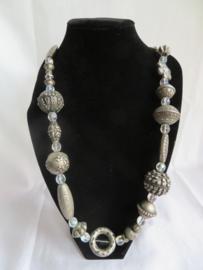 Lange halsketting zilver