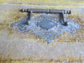 VERKOCHT Antieke Franse fluwelen sieradendoos juwelenkist, 19e eeuw
