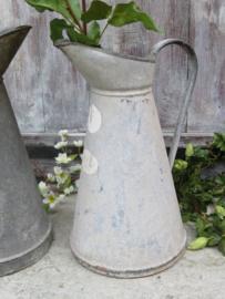 Oude Franse zinken kan, 38 cm