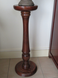Oude Engelse mahoniehouten plantentafel piedestal