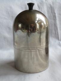 Art Deco zilverkleurige metalen tabakspot