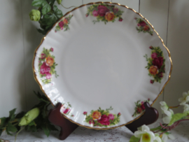 Taartschaal Royal Albert, model Old Country Roses, 27 cm