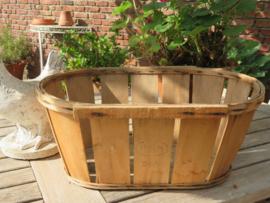 Originele Franse houten druivenplukmand, 52 cm