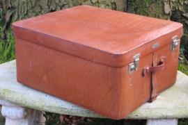 Vintage leren koffer Zumpolle met hanggedeelte en opbergvakken