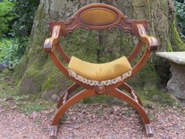 Antieke mahoniehouten Dagobert stoel kasteelstoel