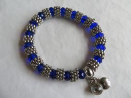 Nieuwe Bayou armband zilver met blauwe geslepen stenen
