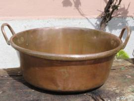 Grote antieke Franse koperen jampan confiture pan