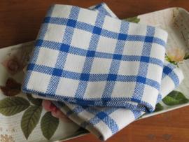 Oud-hollandse blauw geruite handdoeken theedoeken, set van 2 stuks