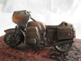Miniatuur bronsmetalen motorfiets (puntenslijper)