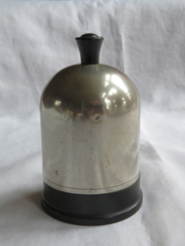 Art Deco zilverkleurige sigarettenhouder