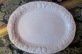 Zeer grote witte serveerschaal 48x38 cm