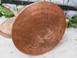 Oude Marokkaanse roodkoperen kan, 35 cm hoog