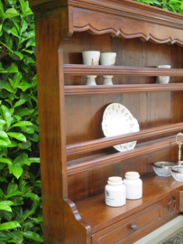 Oude Franse mahoniehouten opzetkast bordenkast