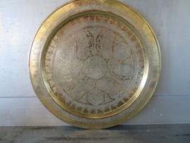 VERKOCHT Oud Marokkaans koperen dienblad, 35 cm