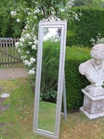Barok zilveren passpiegel, 145 cm hoog