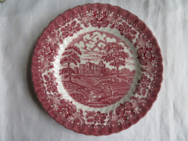 Ontbijtborden British Anchor Ironstone, Olde Country Castles, set van 5 st.