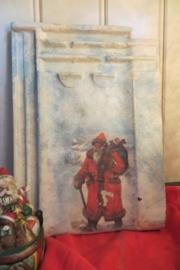 Hangeschilderde dakpan met kersttafereel
